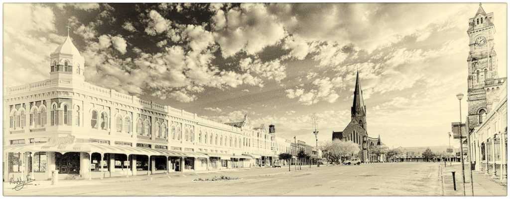 Church Square in sepia